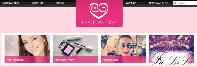 Beautygloss website